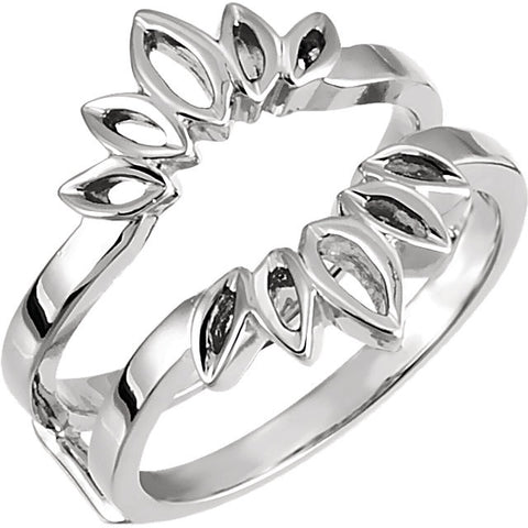 All Metal Ring Guard in 14K White Gold (Size 6)