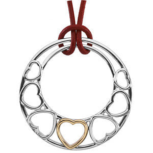 Two-Tone Fashion Heart Pendant