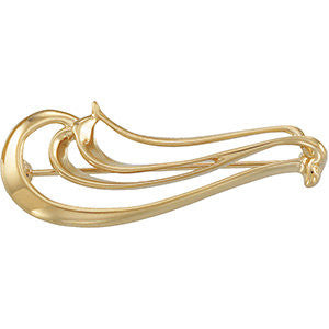 16.00x40.00 mm Brooch in 14K Yellow Gold
