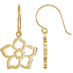 14k Yellow Gold Forget Me Not Earring Mounting