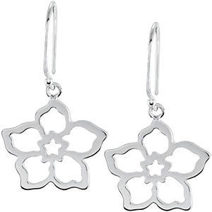 Forget Me Not Earring Mounting in 14K White Gold