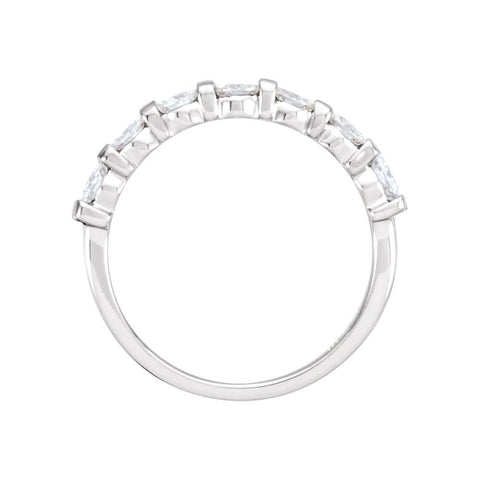 14k White Gold Forever Classic™ Moissanite Anniversary Band, Size 7