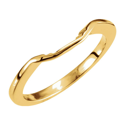 Wedding Band for Matching Engagement Ring with 08.00 mm Center Stone in 14k Yellow Gold ( Size 6 )