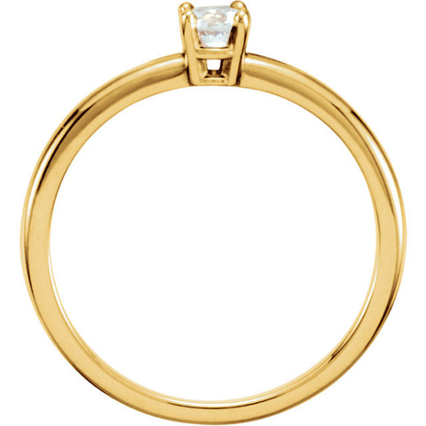 "14k Yellow Gold 1/10 CTW Diamond ""April"" Youth Birthstone Ring, Size 3"