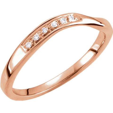 0.03 CTTW Stackable Diamond Ring in 14k Rose Gold (Size 6 )
