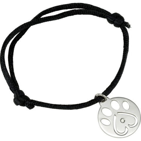 Sterling Silver Our Cause For Paws Bracelet or Charm (06.50-08.00 Inch)