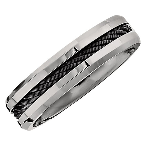 Titanium 6mm Wedding Comfort-Fit Men's Wedding Band , Size 11.5
