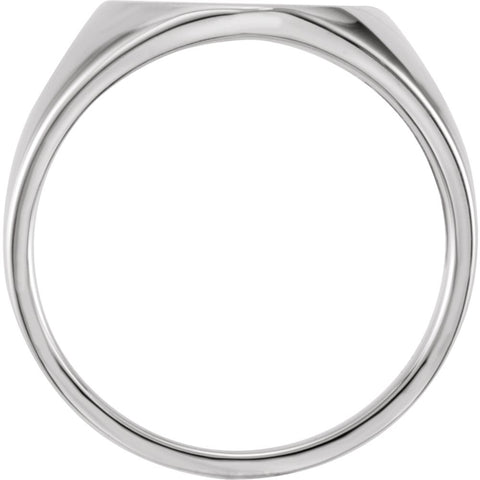 Sterling Silver Signet Ring , Size 11