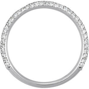 14k White Gold 1/2 CTW Diamond Band, Size 7
