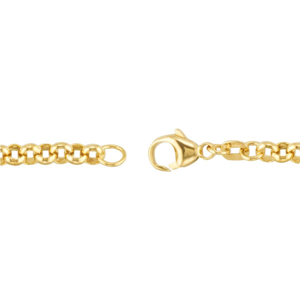 "14k Yellow Gold Solid Rolo 7"" Bracelet"