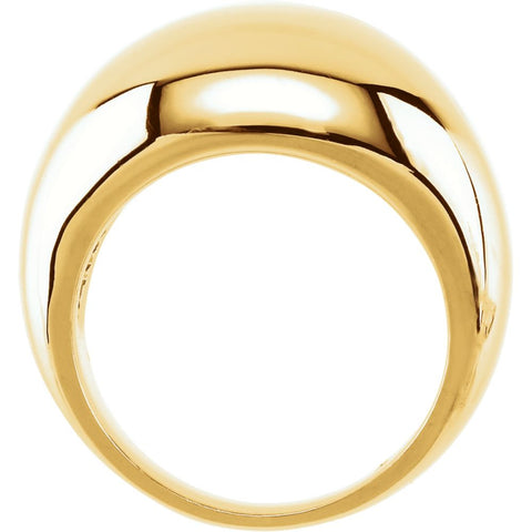 10k Yellow Gold 10mm Metal Fashion Ring, Size 7