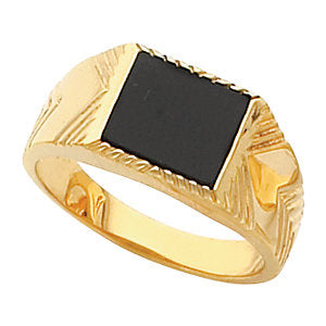14k Yellow Gold Gents Mounting, Size 11