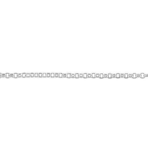1.5mm Sterling Silver Adjustable Rolo Chain