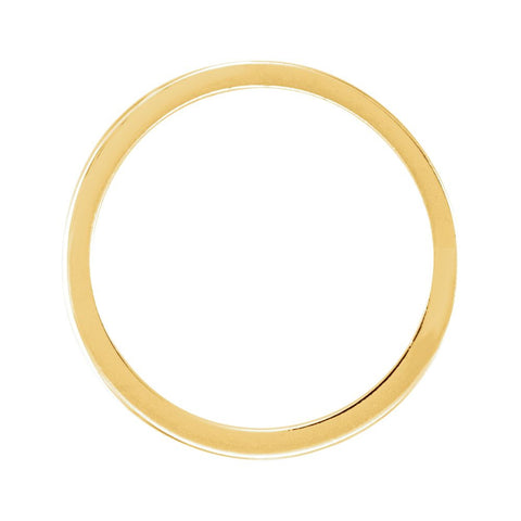 14k Yellow Gold Solstice Solitaire® 0.25-.33 CT Tapered Bombé Band, Size 6
