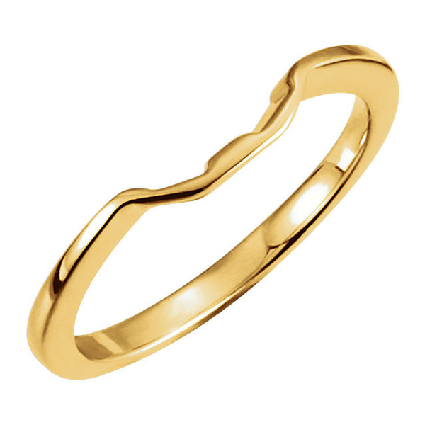 14k Yellow Gold 6.5mm Band , Size 5.75