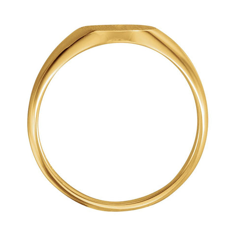 10k Yellow Gold 10x8mm Oval Signet Ring, Size 6