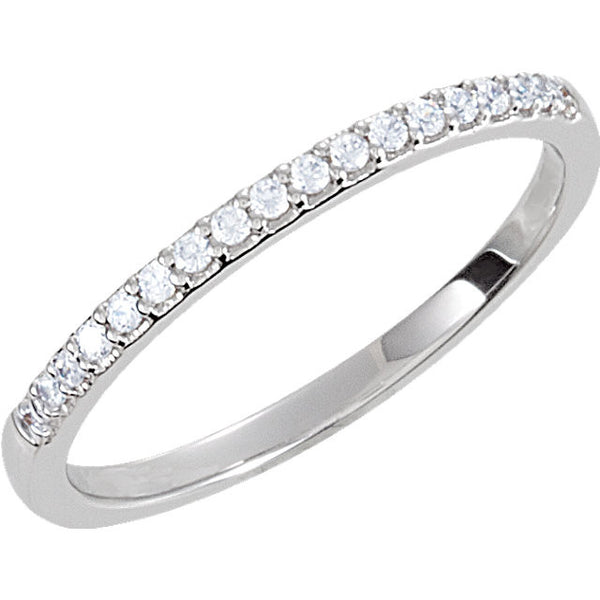 Sterling Silver Cubic Zirconia Band Size 7
