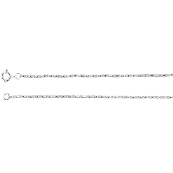 "Sterling Silver 1.45mm Twisted Box 24"" Chain"