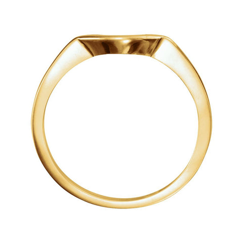 14k Yellow Gold 7x5mm Band Mounting, Size 7