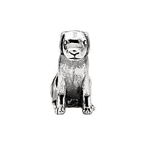 Kera Sterling Silver Dog Bead
