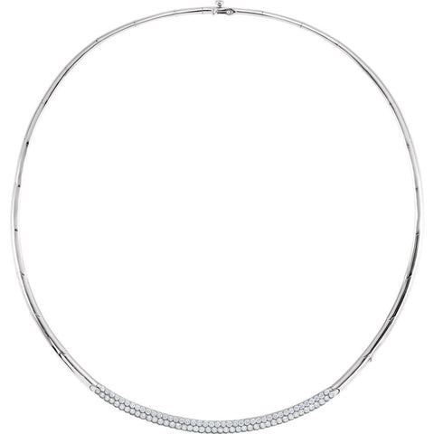 3 CTTW 16 inch Diamond Necklace in 14k White Gold
