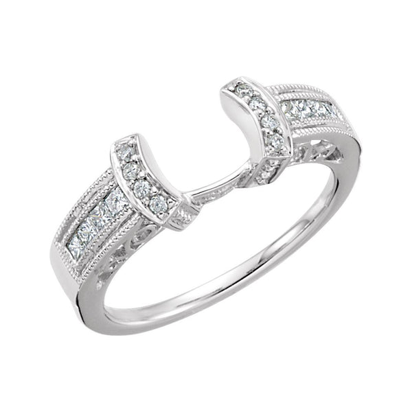 14k White Gold 1/4 CTW Diamond Ring Enhancer, Size 7