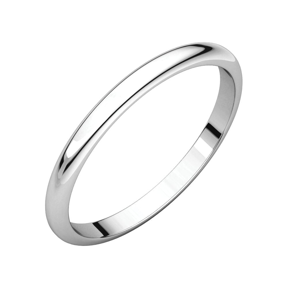 04.00 mm Half Round Light Wedding Band Ring in 14k Yellow Gold Size 9.5
