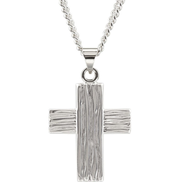 Sterling Silver 23x19mm The Rugged Cross® Pendant