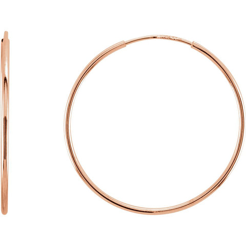 24mm Endless Hoop Earrings in 14K Rose Gold