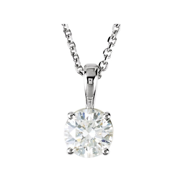 "14k White Gold 1/2 CTW Diamond 18"" Necklace"
