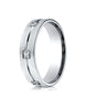 Benchmark-14K-White-Gold-6mm-Comfort-Fit-Princess-Cut-Burnish-Set-6-Stone-Eternity-Wedding-Band--0.60ct.--CF52682814KW