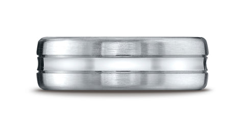Benchmark-Palladium-7.5mm-Comfort-Fit-Satin-Finished-High-Polished-Center-Cut-Carved-Design-Band--Size-4.25--CF717505PD04.25