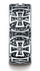 Benchmark-Cobaltchrome-9-mm-Comfort-Fit-6-Stone-Black-Diamond-Maltese-Cross-Design-Band--0.33-cttw--Sz7--CF99451CC07