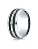 Benchmark-Cobaltchrome-9-mm-Comfort-Fit-Diamond-Wedding-Band-with-Double-Graphite-Inlay--0.20-cttw--Sz-6--CF995623CC06