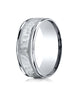 Benchmark-18K-White-Gold-8mm-Comfort-Fit-High-Polished-Squared-Edge-Carved-Design-Wedding-Band--Size-6--CF15830918KW06