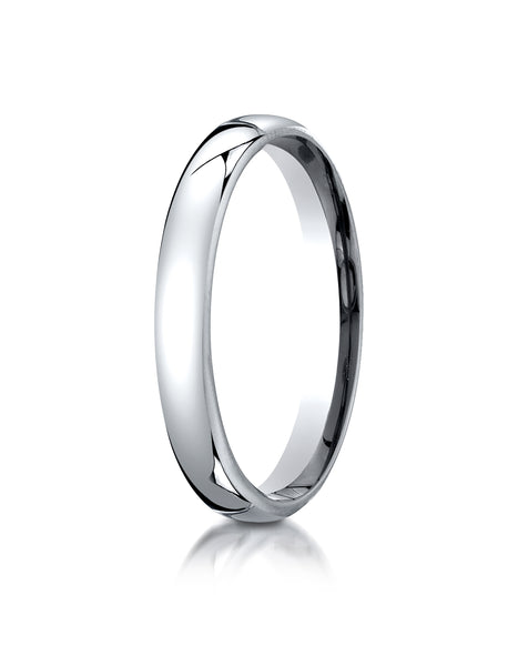 Benchmark 10K White Gold 3.5mm European Comfort-Fit Wedding Band Ring (Sizes 4 - 14 )