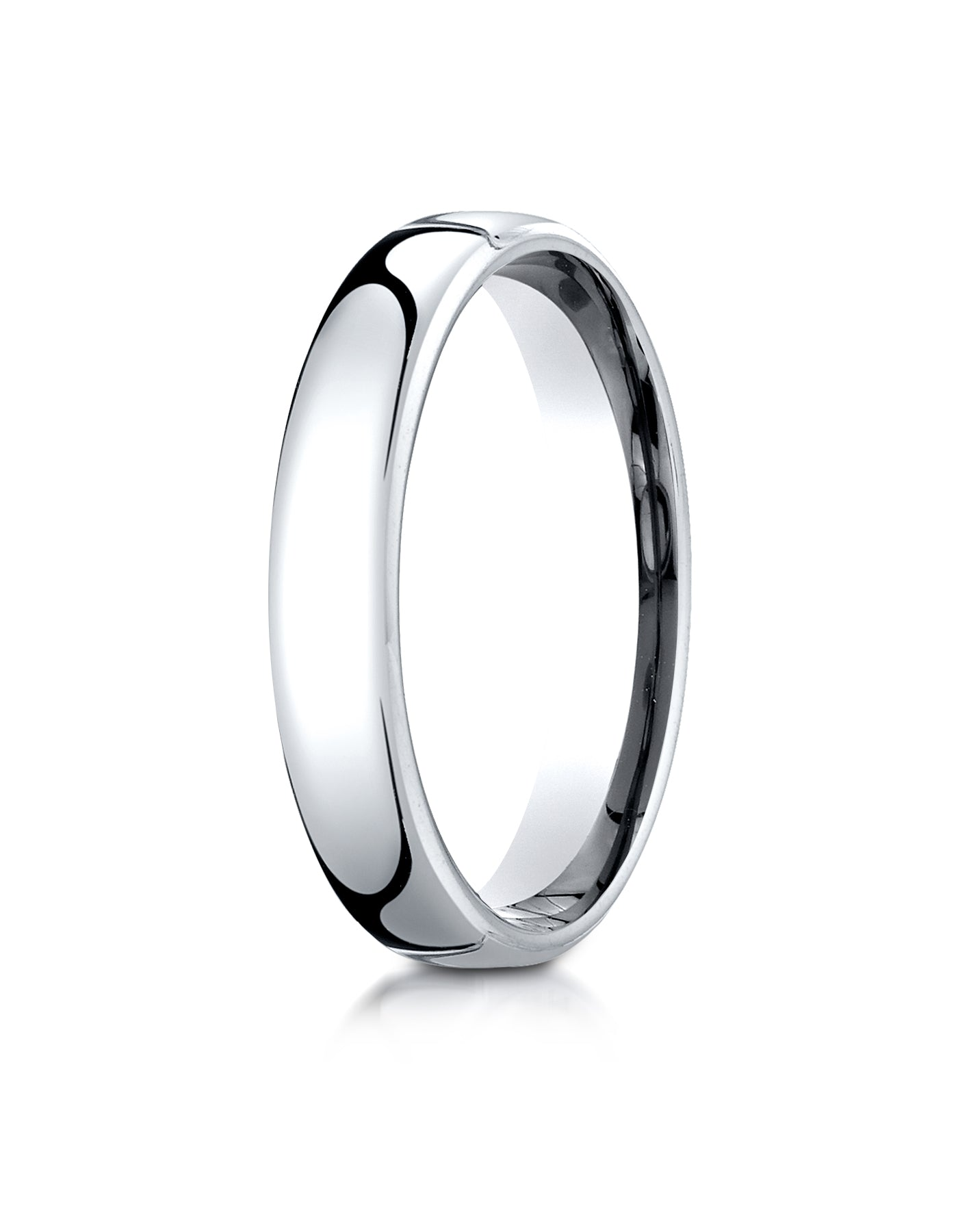 Benchmark 18K White Gold 4.5mm European Comfort Fit Wedding Band Ring (Sizes  4