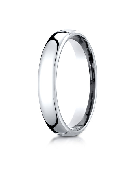 Benchmark 18K White Gold 4.5mm European Comfort-Fit Wedding Band Ring (Sizes 4 - 14 )