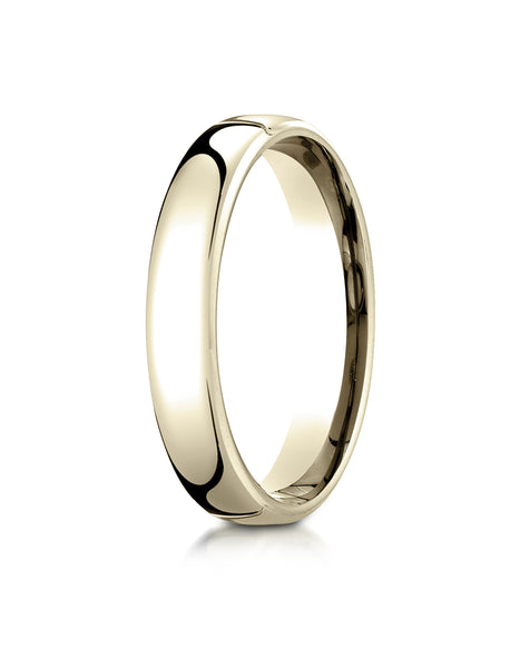 Benchmark 14K Yellow Gold 4.5mm European Comfort-Fit Wedding Band Ring (Sizes 4 - 14 )