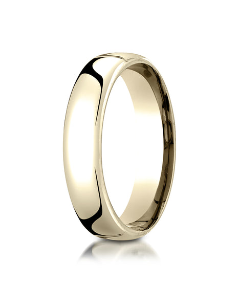 Benchmark 14K Yellow Gold 5.5mm European Comfort-Fit Wedding Band Ring (Sizes 4 - 14 )