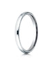 Benchmark-14K-White-Gold-2.5mm-Slightly-Domed-Standard-Comfort-Fit-Wedding-Band-Ring--Size-4--LCF12514KW04