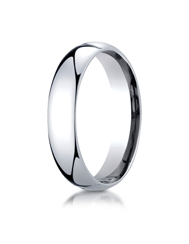 Benchmark-Platinum-5mm-Slightly-Domed-Standard-Comfort-Fit-Wedding-Band-Ring--Size-4--LCF150PT04