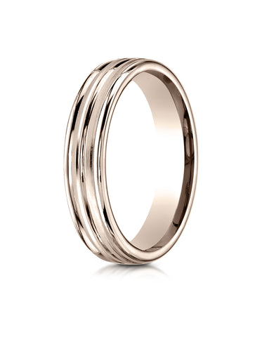 Benchmark-14K-Rose-Gold-4mm-Comfort-Fit-Satin-Finished-and-Round-Edge-Carved-Design-Wedding-Band--Size-4--RECF5418014KR04