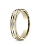 Benchmark-14K-Yellow-Gold-4mm-Comfort-Fit-Satin-Finish-and-Round-Edge-Carved-Design-Wedding-Band--Size-4--RECF5418014KY04