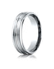 Benchmark-Platinum-6mm-Comfort-Fit-Satin-Finished-and-Round-Edge-Carved-Design-Wedding-Band--Size-4--RECF56180PT04