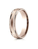 Benchmark-14K-Rose-Gold-4mm-Comfort-Fit-Satin-Finish-Center-w/-a-Round-Edge-and-Milgrain-Band--Size-4--RECF7401S14KR04