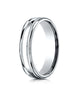 Benchmark-18K-White-Gold-4mm-Comfort-Fit-High-Polished-Finish-w/-a-Round-Edge-and-Milgrain-Band--Size-4--RECF740118KW04