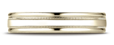 Benchmark-18K-Yellow-Gold-4mm-Comfort-Fit-High-Polished-Finish-w/-a-Round-Edge-and-Milgrain-Band--Size-4.25--RECF740118KY04.25