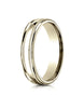 Benchmark-18K-Yellow-Gold-4mm-Comfort-Fit-High-Polished-Finish-w/-a-Round-Edge-and-Milgrain-Band--Size-4--RECF740118KY04