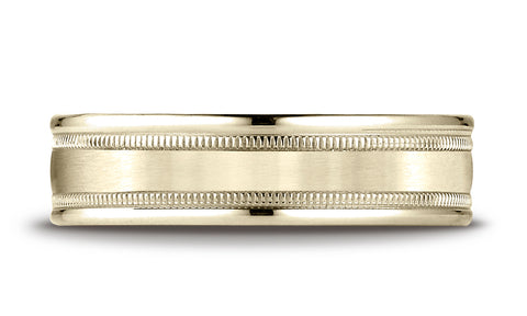 Benchmark-10K-Yellow-Gold-6mm-Comfort-Fit-Satin-Finish-Center-w/-Milgrain-Round-Edge-Band--Size-4.25--RECF7601S10KY04.25
